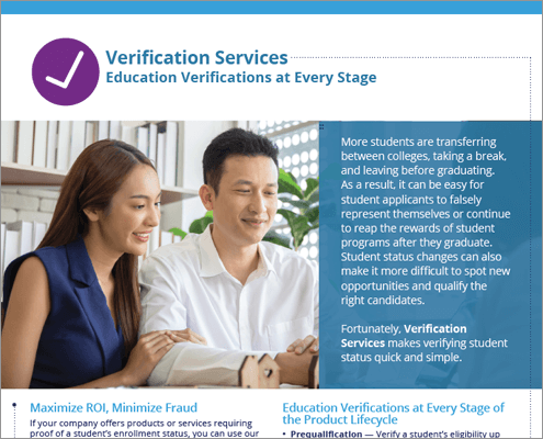Commercial Verification Services Flyer