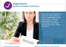 DegreeVerify Referral Flyer