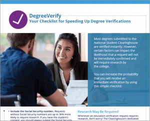 Speedy Verification Checklist