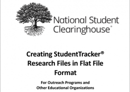 StudentTracker Flat File Formatting Guide - Outreach