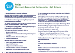 Electronic Transcript Exchange for High Schools FAQs