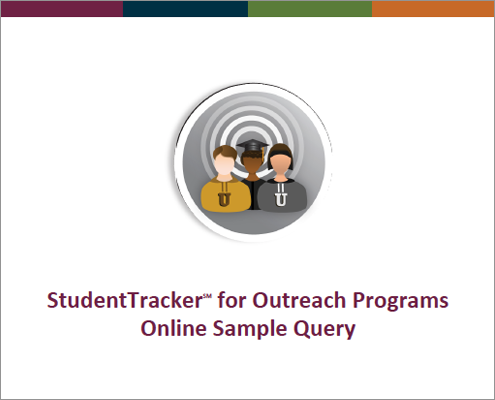 StudentTracker for Outreach Online Sample Query Flyer