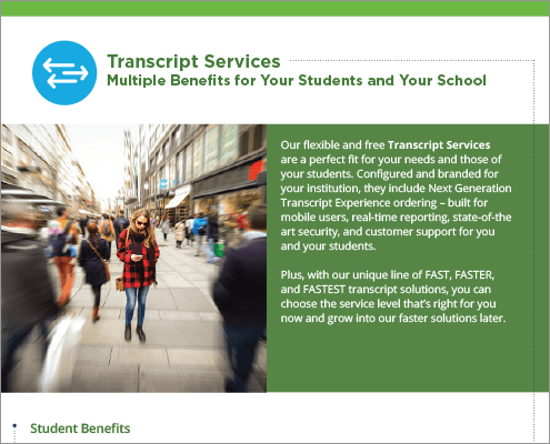 Transcript Services Benefits Flyer