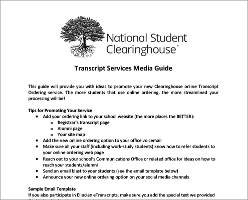 Transcript Services Media Guide