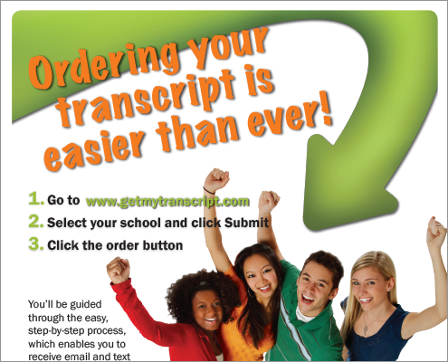 Transcript Ordering Referral Flyer